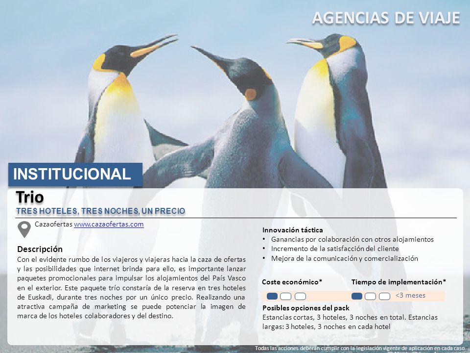 AGENCIAS DE VIAJE Trio INSTITUCIONAL Descripción