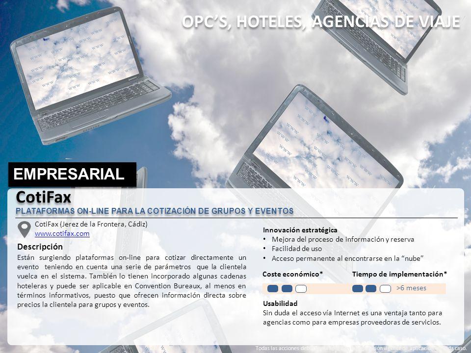 OPC'S, HOTELES, AGENCIAS DE VIAJE