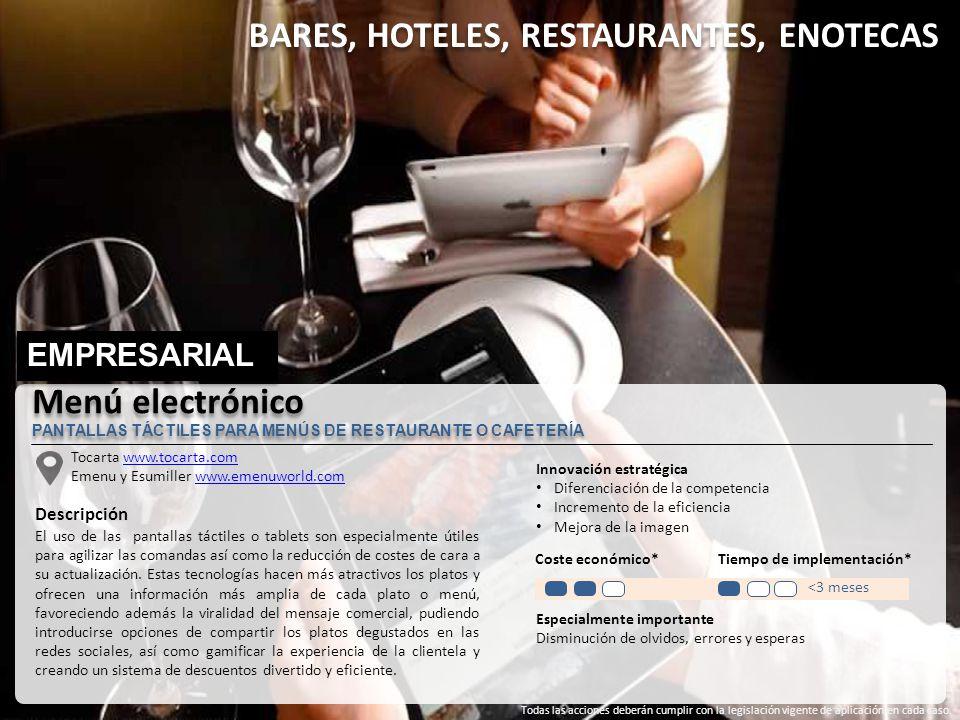 BARES, HOTELES, RESTAURANTES, ENOTECAS