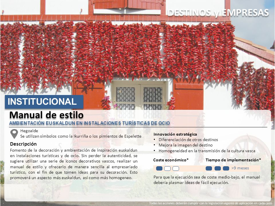 DESTINOS y EMPRESAS Manual de estilo INSTITUCIONAL Descripción
