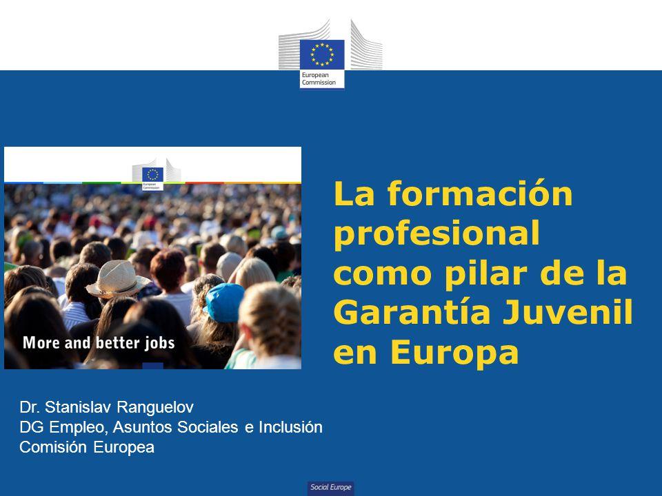 La formación profesional como pilar de la Garantía Juvenil en Europa