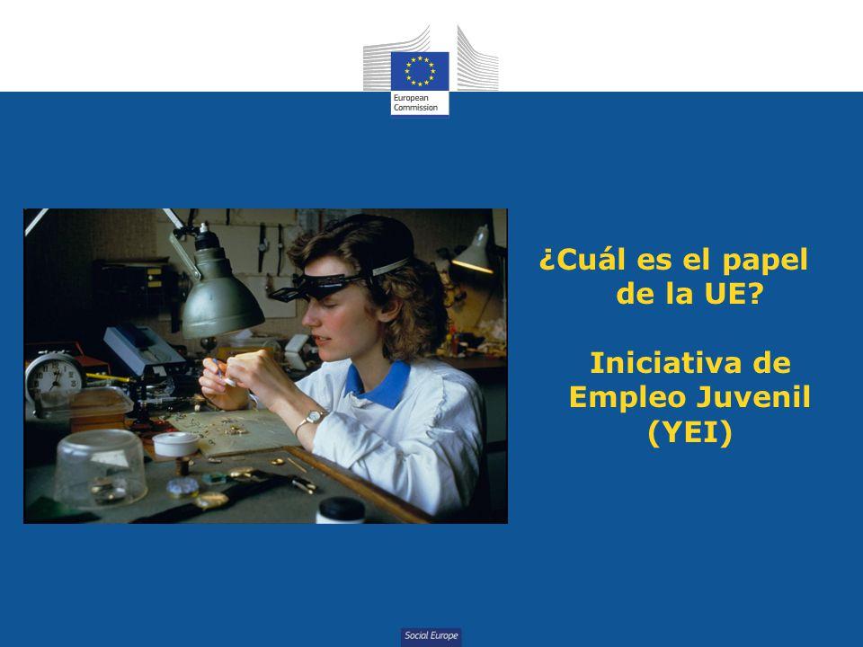 ¿Cuál es el papel de la UE Iniciativa de Empleo Juvenil (YEI)
