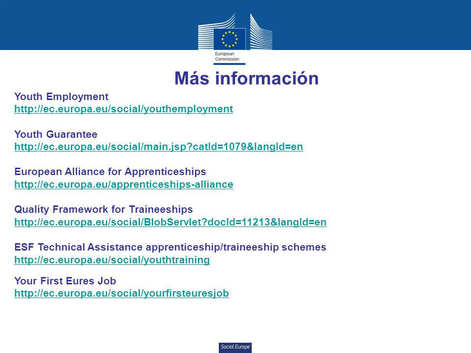 Más información Youth Employment