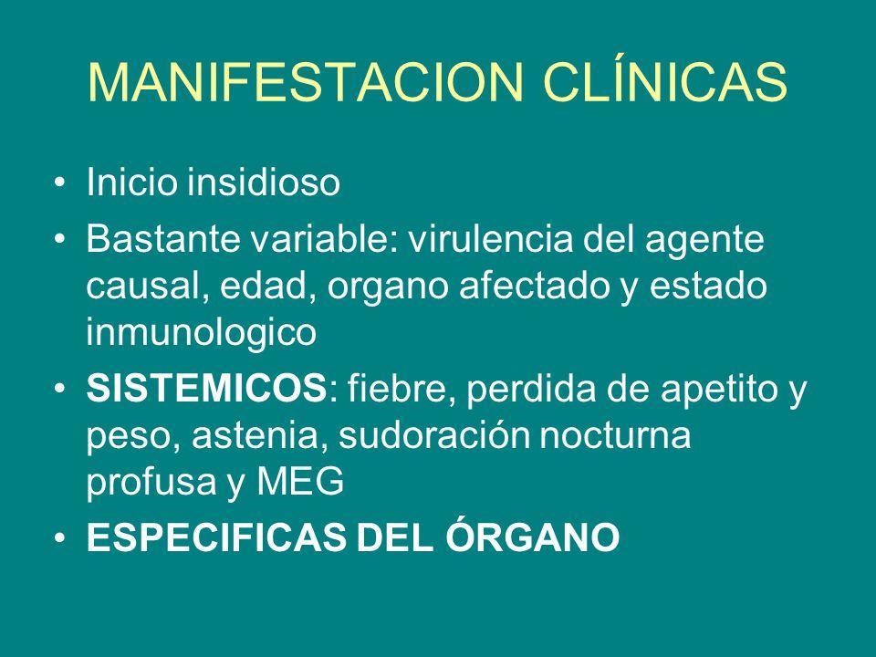 MANIFESTACION CLÍNICAS