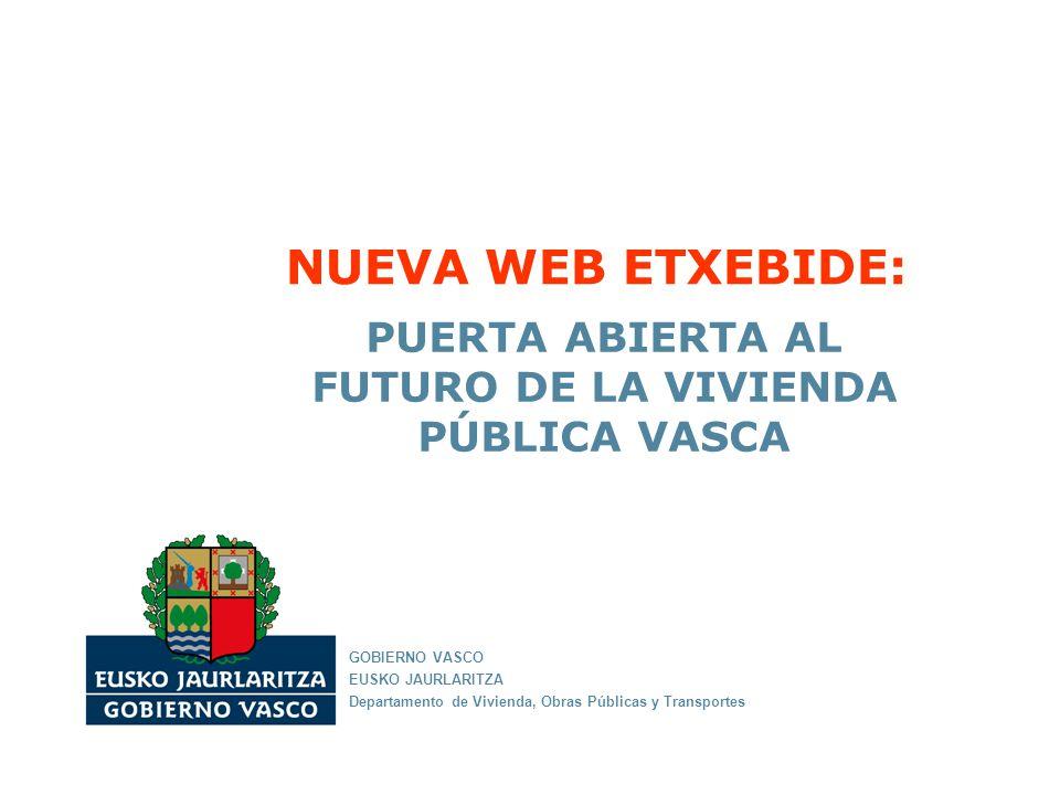 PUERTA ABIERTA AL FUTURO DE LA VIVIENDA PÚBLICA VASCA