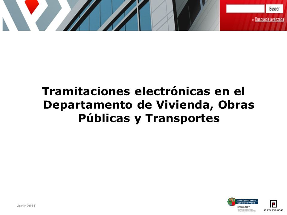 Tramitaciones electrónicas en el Departamento de Vivienda, Obras Públicas y Transportes