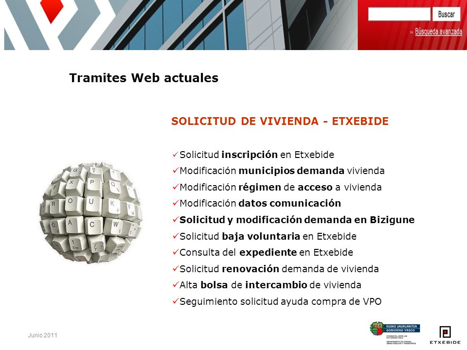 Tramites Web actuales Modificación municipios demanda vivienda