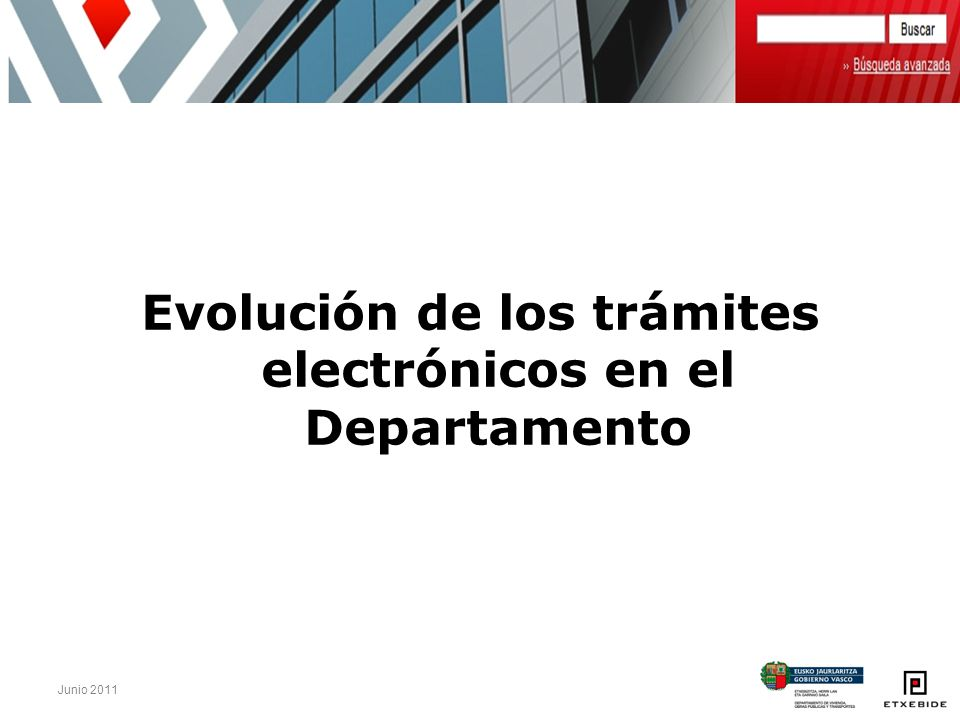 Evolución de los trámites electrónicos en el Departamento