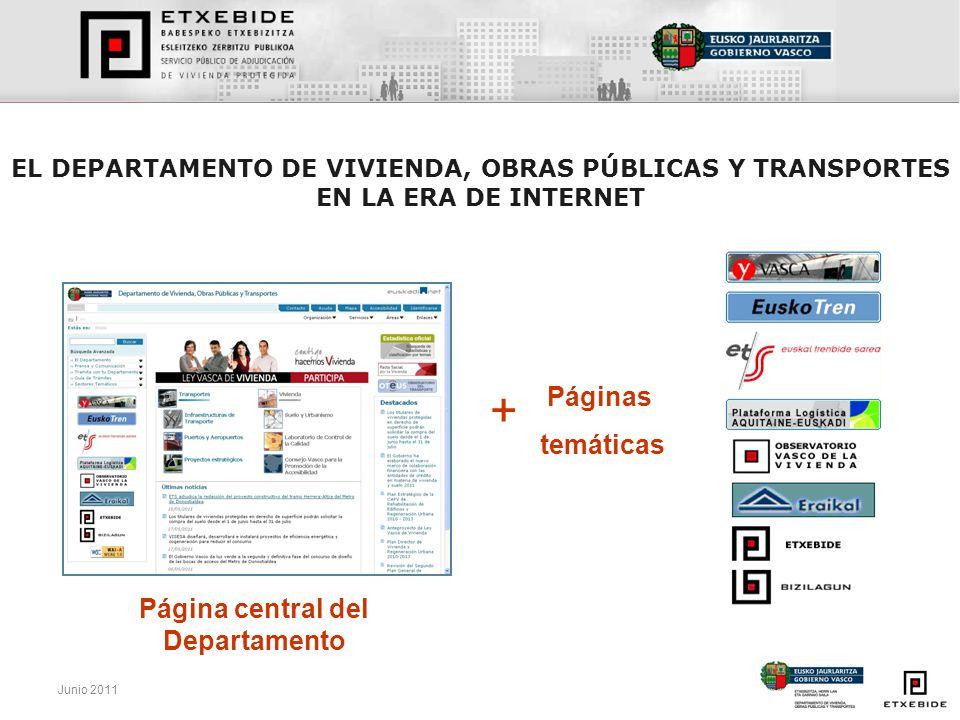 Página central del Departamento