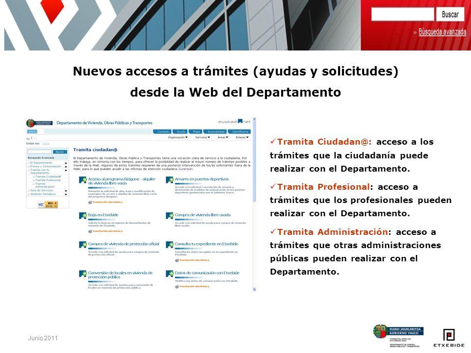 Nuevos accesos a trámites (ayudas y solicitudes)