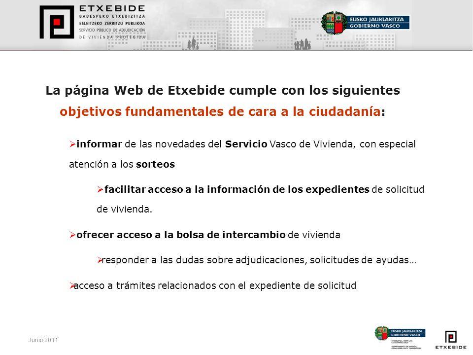 La página Web de Etxebide cumple con los siguientes