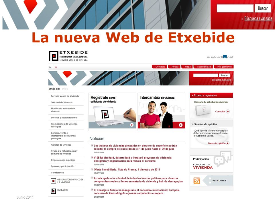 La nueva Web de Etxebide