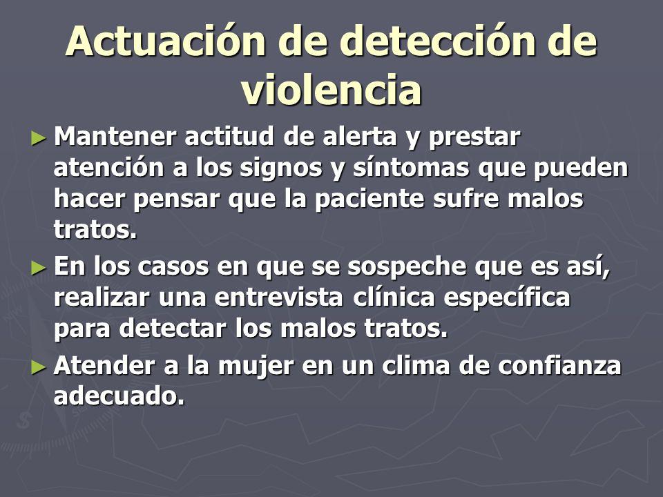 Actuación de detección de violencia