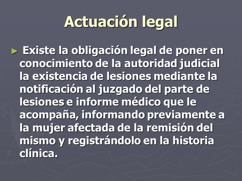 Actuación legal