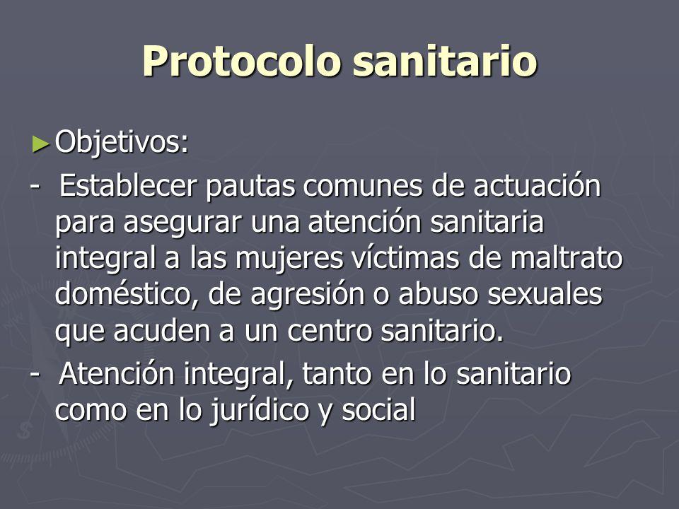 Protocolo sanitario Objetivos:
