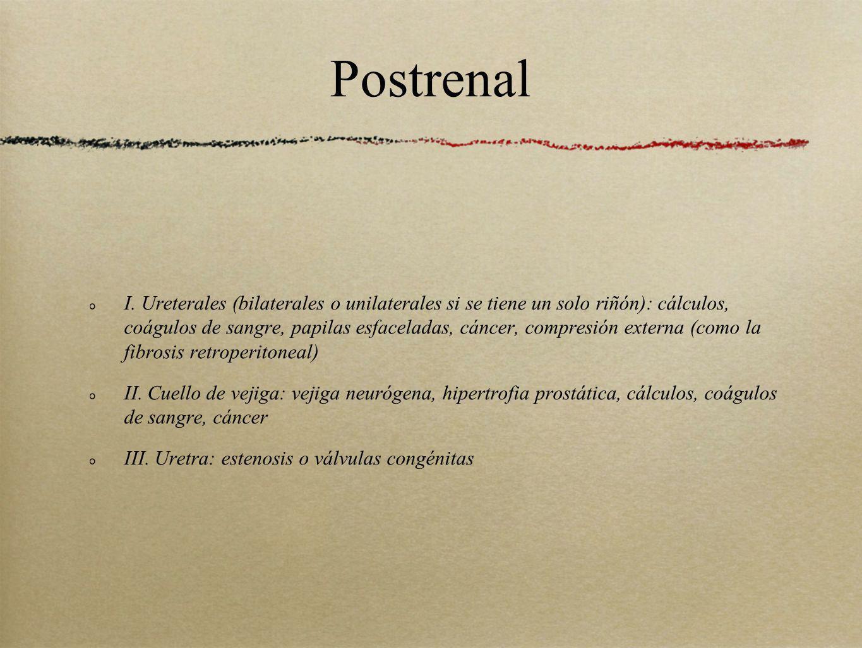 Postrenal