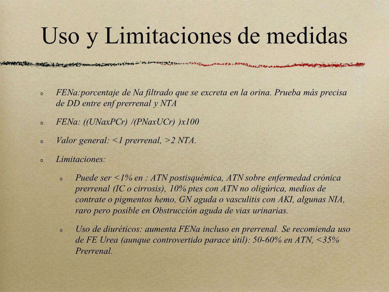 Uso y Limitaciones de medidas