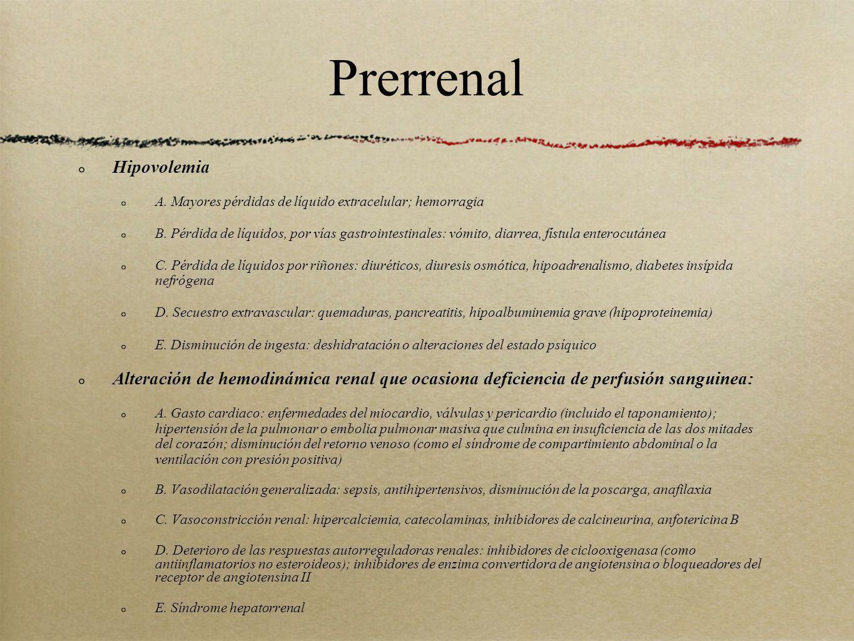 Prerrenal Hipovolemia