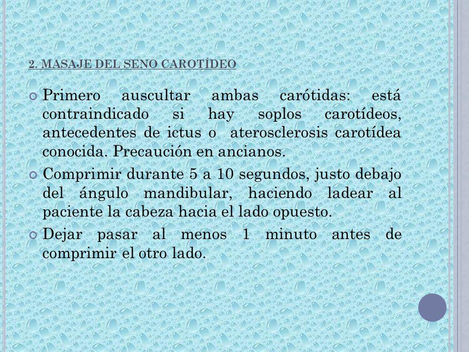 2. MASAJE DEL SENO CAROTÍDEO