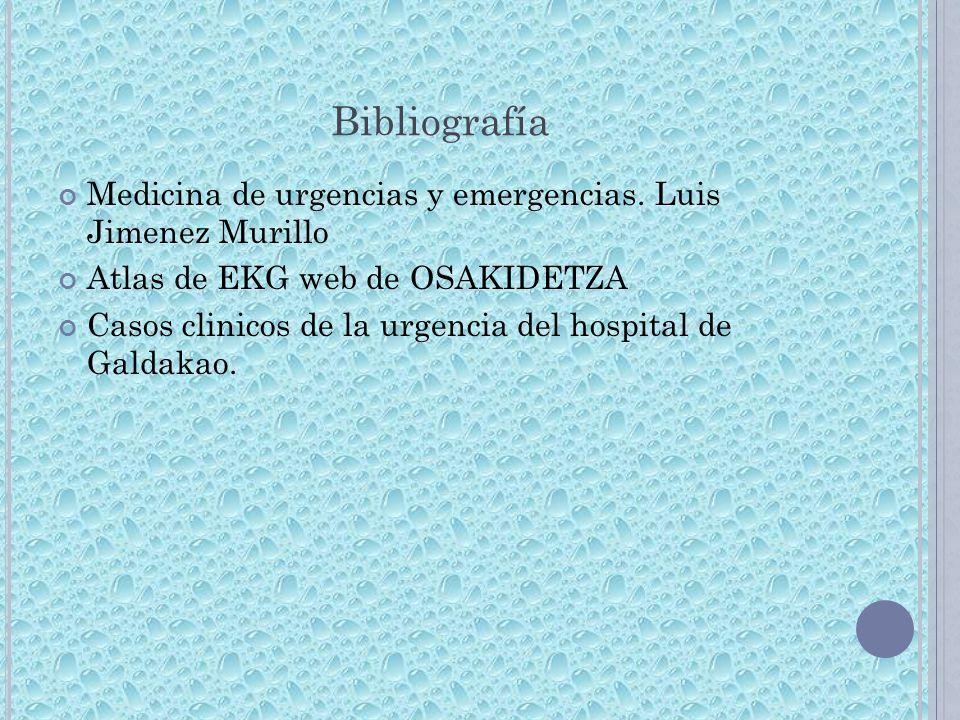 Bibliografía Medicina de urgencias y emergencias. Luis Jimenez Murillo