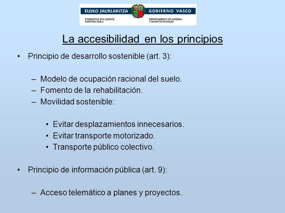 La accesibilidad en los principios
