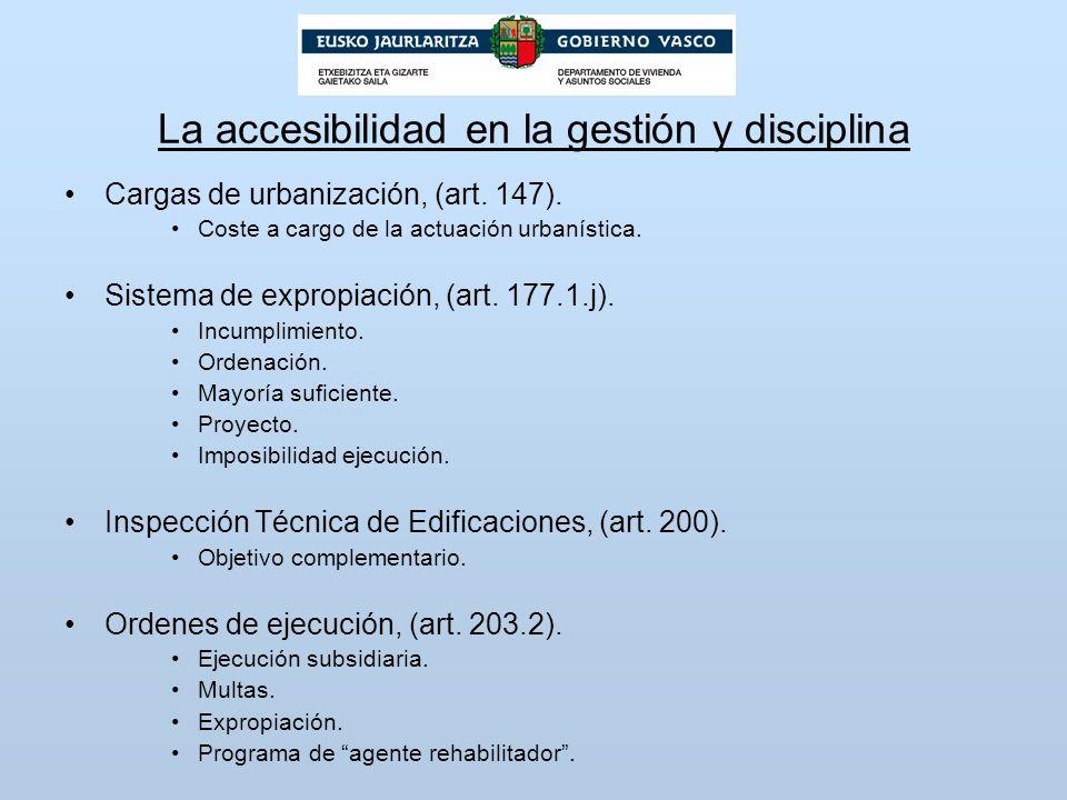 La accesibilidad en la gestión y disciplina