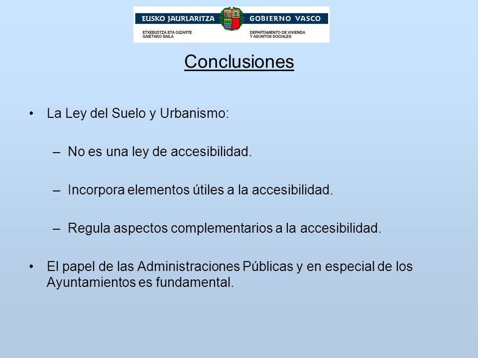 Conclusiones La Ley del Suelo y Urbanismo: