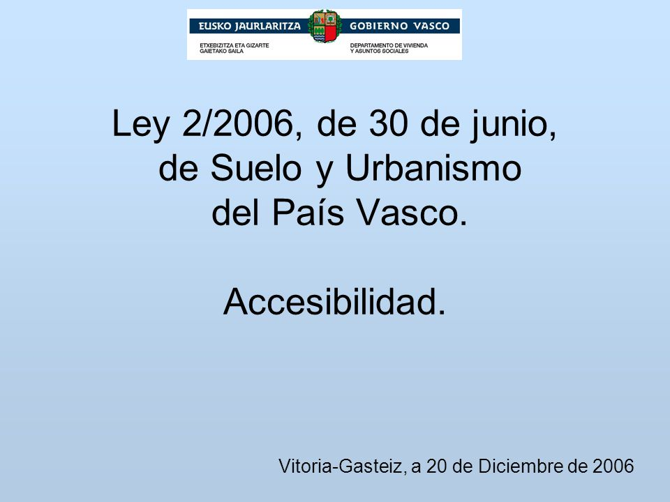 Vitoria-Gasteiz, a 20 de Diciembre de 2006