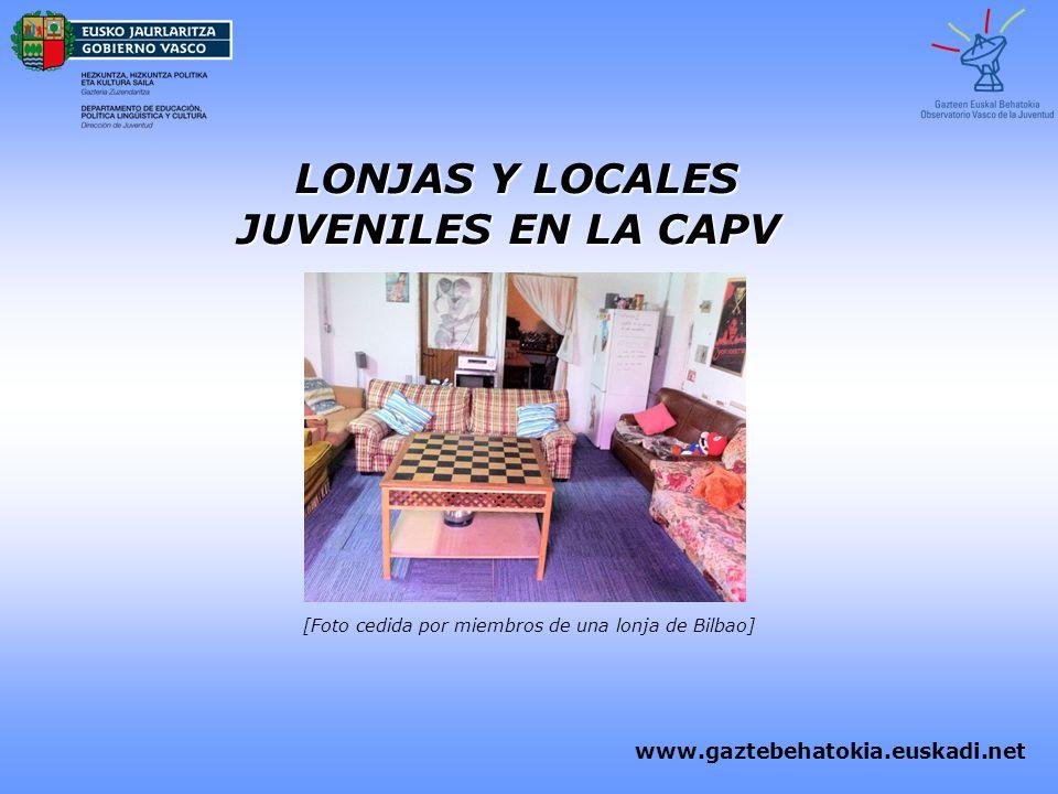 LONJAS Y LOCALES JUVENILES EN LA CAPV
