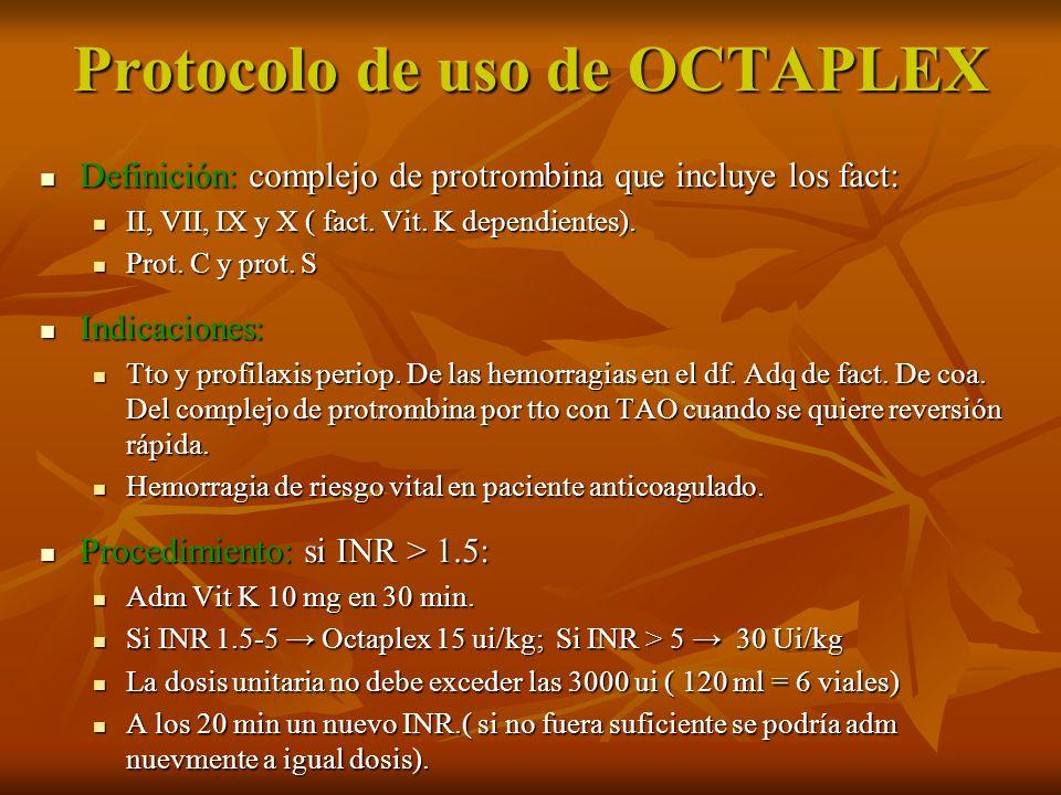 Protocolo de uso de OCTAPLEX