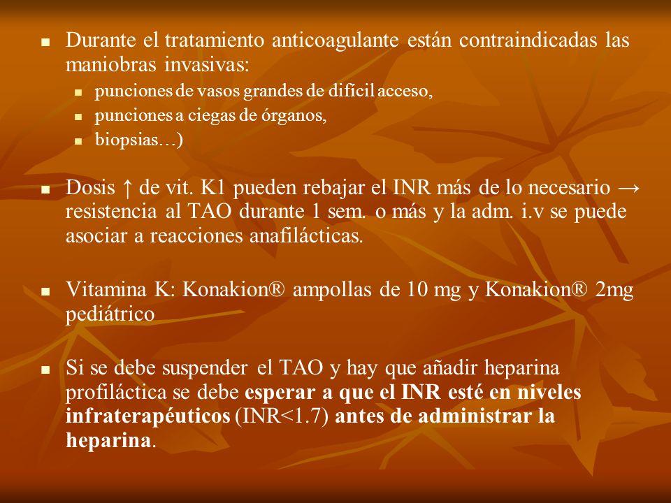 Vitamina K: Konakion® ampollas de 10 mg y Konakion® 2mg pediátrico