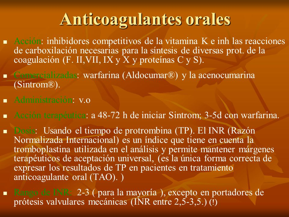 Anticoagulantes orales