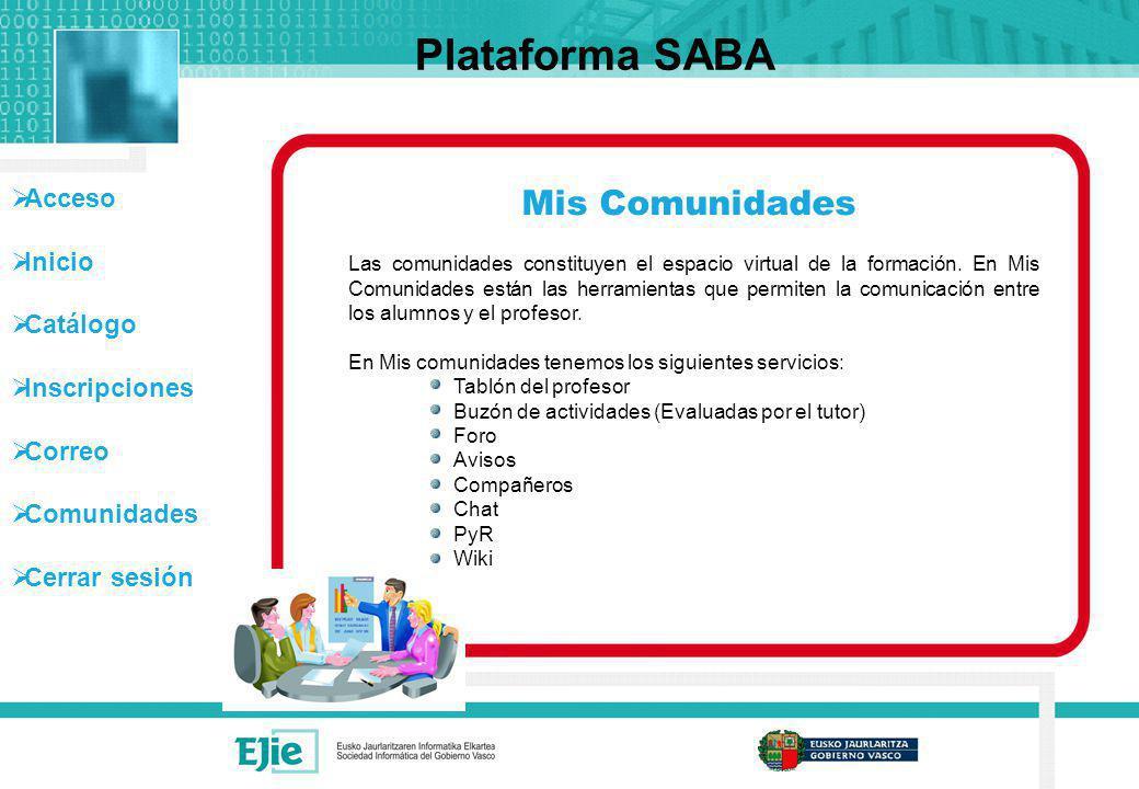 Plataforma SABA Mis Comunidades