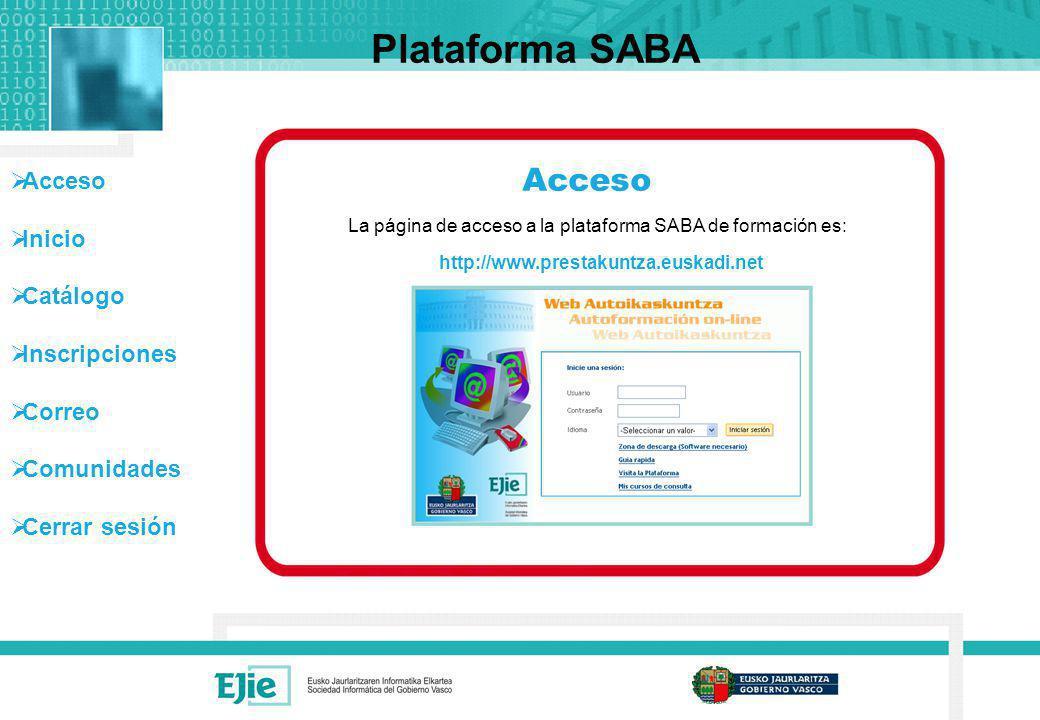 Plataforma SABA Acceso