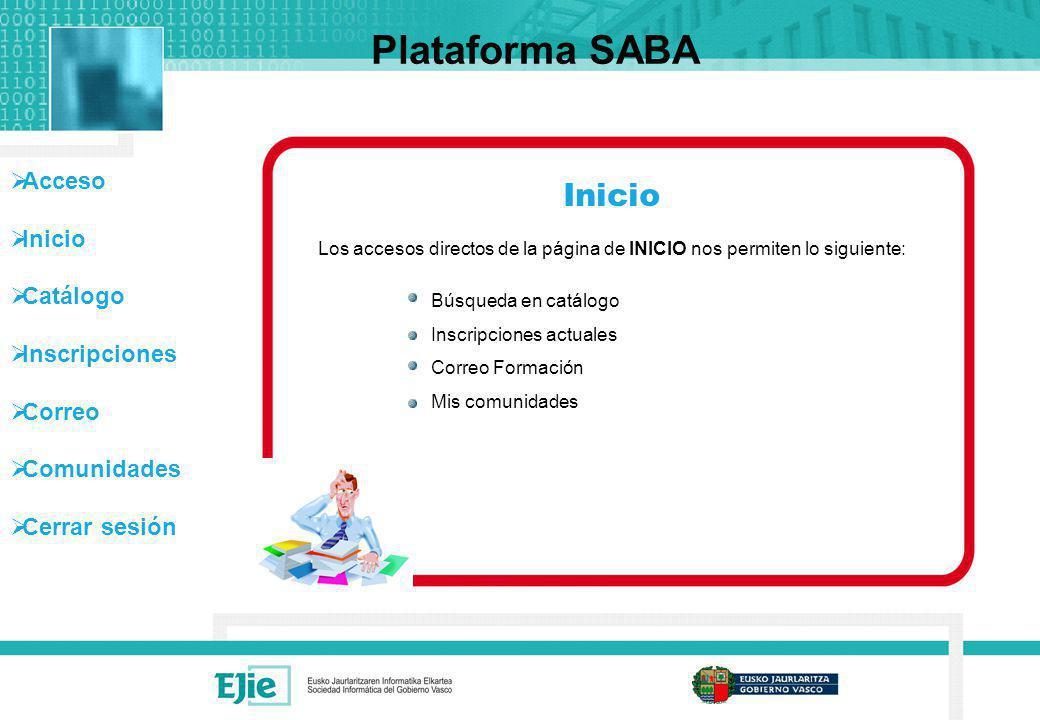 Plataforma SABA Inicio