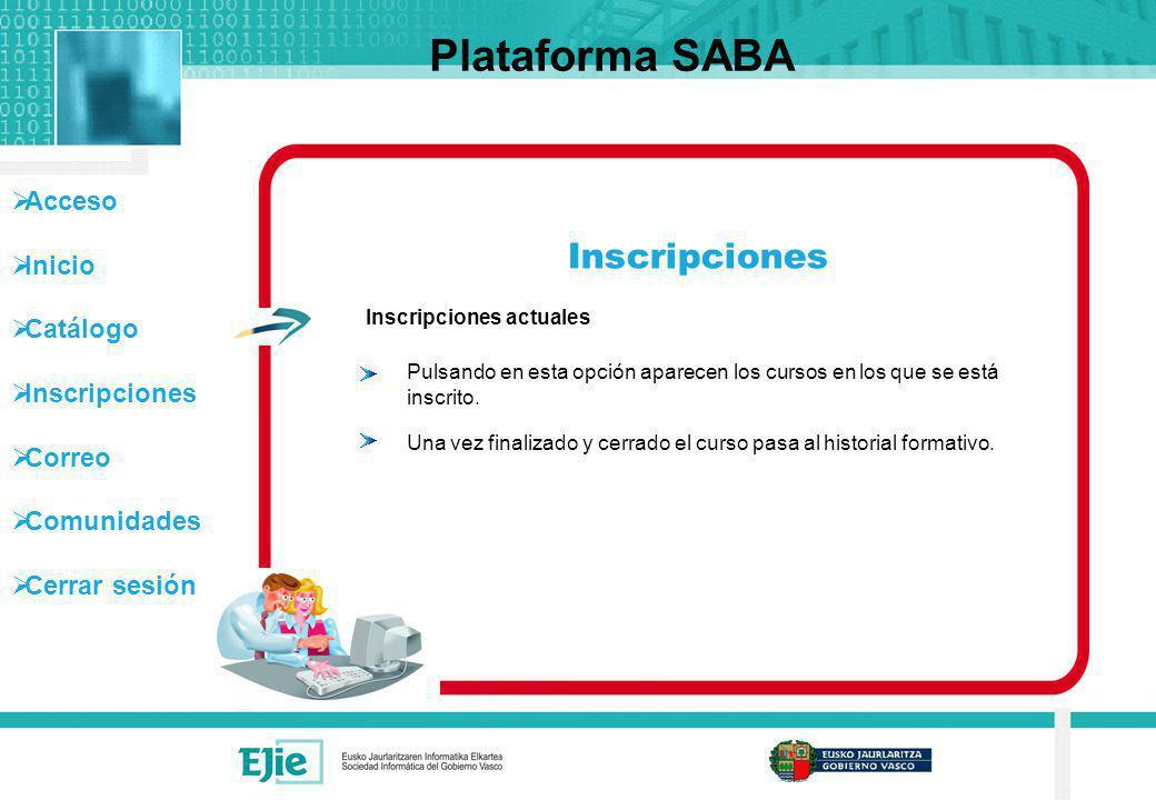 Plataforma SABA Inscripciones