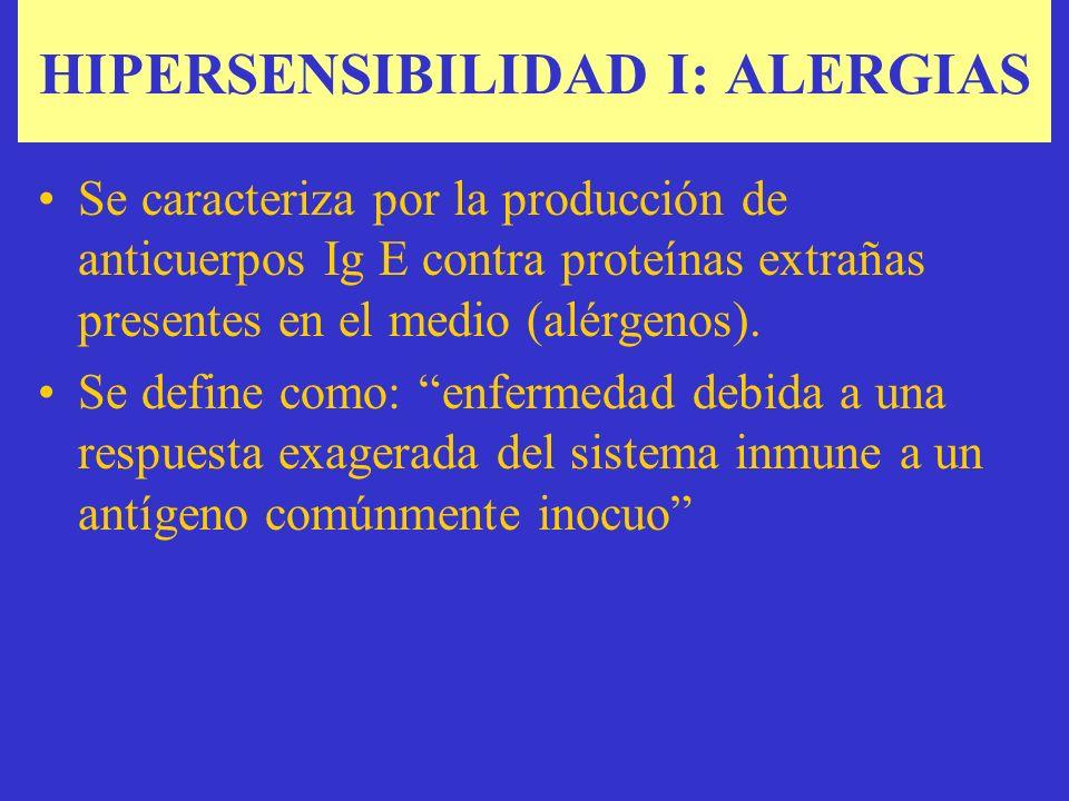HIPERSENSIBILIDAD I: ALERGIAS