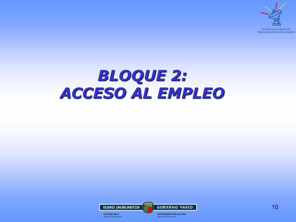 BLOQUE 2: ACCESO AL EMPLEO