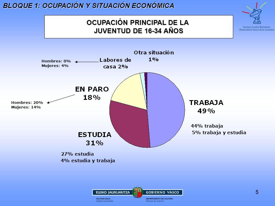 OCUPACIÓN PRINCIPAL DE LA