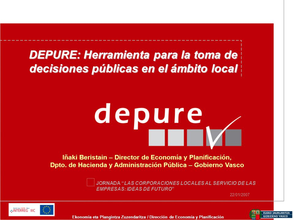 DEPURE: Herramienta para la toma de decisiones públicas en el ámbito local