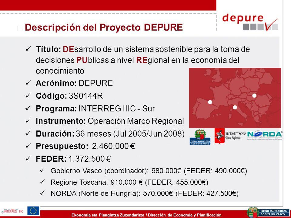 Descripción del Proyecto DEPURE