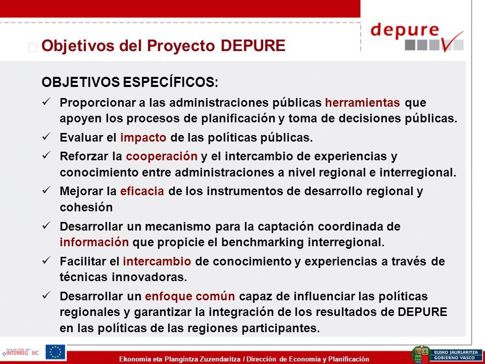 Objetivos del Proyecto DEPURE