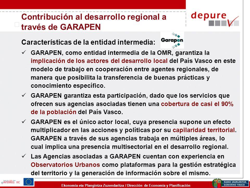Contribución al desarrollo regional a través de GARAPEN