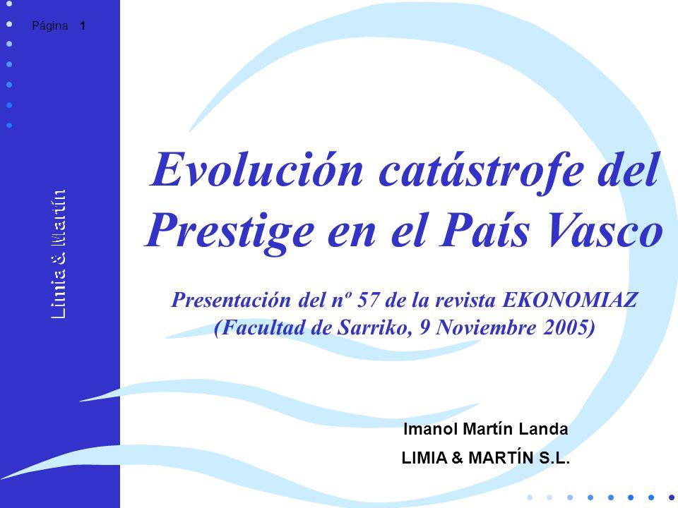 Evolución catástrofe del Prestige en el País Vasco