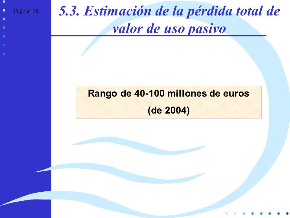 5.3. Estimación de la pérdida total de valor de uso pasivo