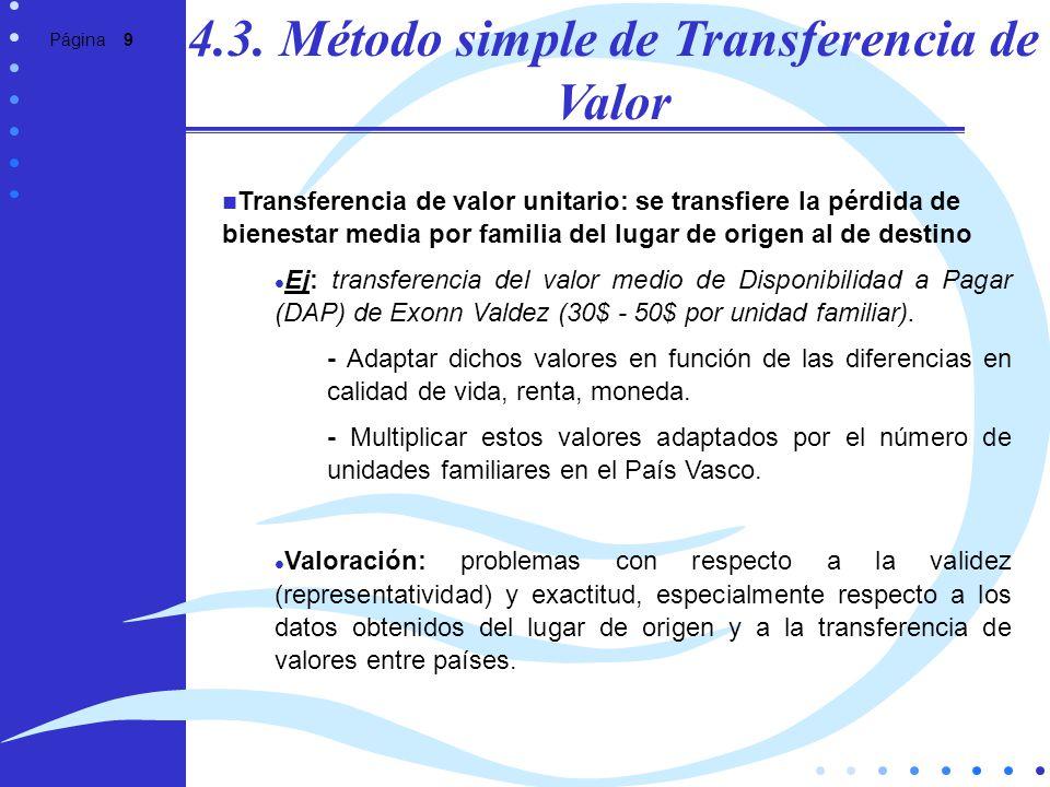 4.3. Método simple de Transferencia de Valor