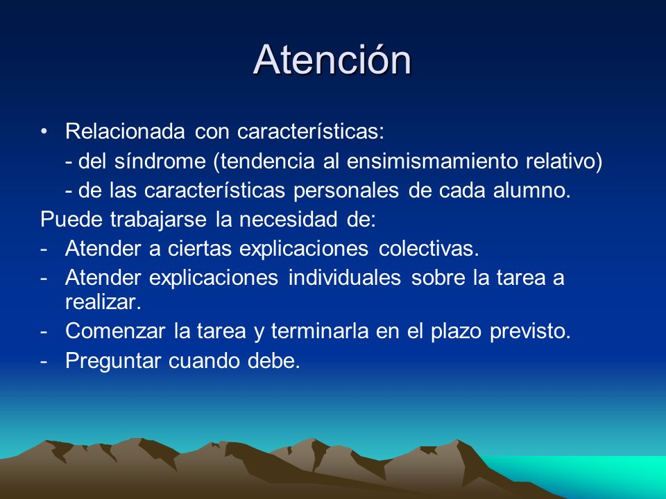 Atención Relacionada con características: