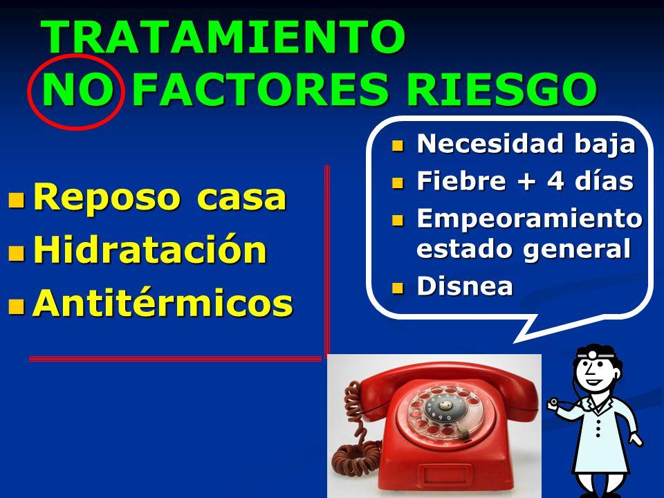 TRATAMIENTO NO FACTORES RIESGO