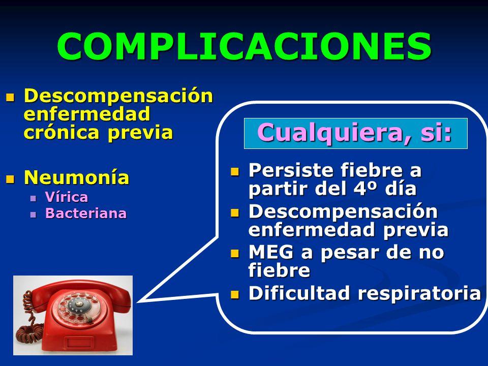COMPLICACIONES Cualquiera, si: