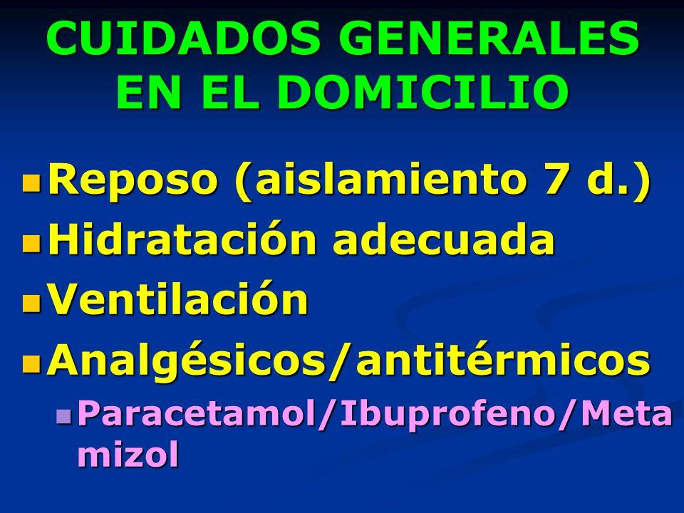 CUIDADOS GENERALES EN EL DOMICILIO